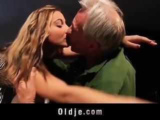 Cutie School Girl Fucking Old Teacher Blowjob swallow