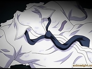 Coed anime hard tentacles drilled