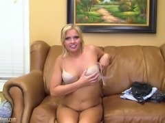 18 year old blonde gets dicked on casting couch