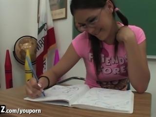 WANKZ - Horny Schoolgirl Fucks Her Teacher After Class!