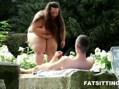 Fat BBW domina in extreme face sitting action