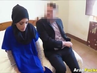 Cash Strapped Arab Fucks Big White Dick