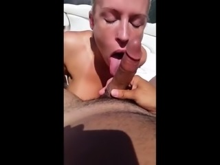 blond girls fucks on the boat