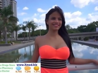 Latino teen with huge tits