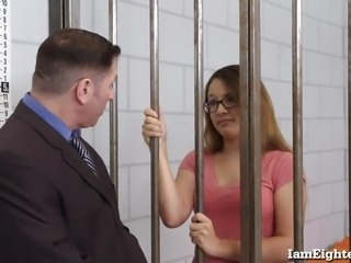 Bad Girl Teen Must Fuck Her Way Out of Jail!