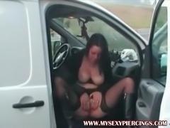My Sexy Piercings Busty pierced MILF in stockings