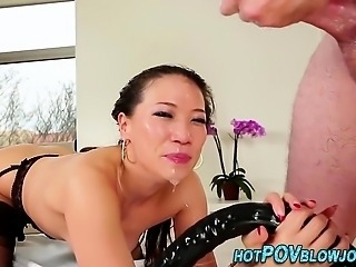 Wam asian get facefucked