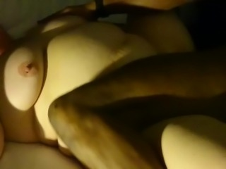 Blindfolded BBW wife with BBC