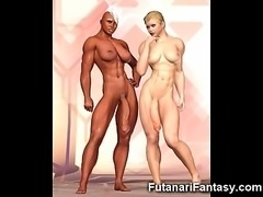 3D Big Dicked Lesbian Futanari Babes!
