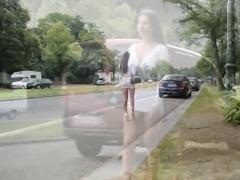 Best hooker on planet: exhibionist microskirt & nude belly!