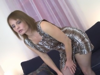 Magda has a nice collection of toys and loves them pushing into pussy