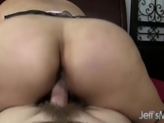 Chubby Asian milf wants nothing but a long cock plowing her fiery twat