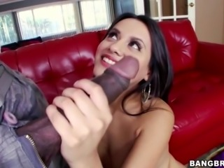 Mexican Selma Sins takes huge black cock
