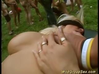 wild outdoor groupsex party