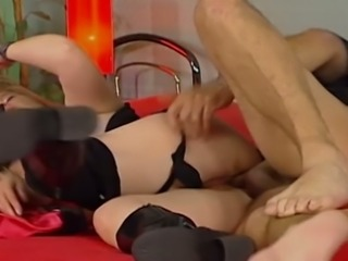 Mature chubby blondie gets her kitty drilled in multiple poses
