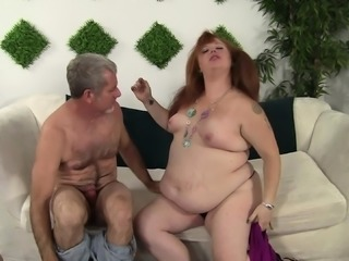 Chunky redhead wants to get her pussy worked by an older fucker