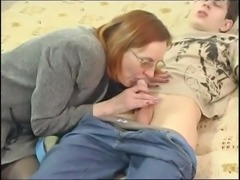 Small tits milf has her hairy cunt pounded after delivering a blowjob
