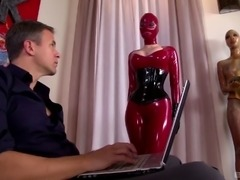 Lucy Latex and her best friend having a threesome with a horny guy