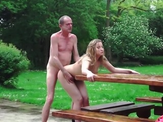 A Russian Blonde Lick the Ass of an Old Bone
