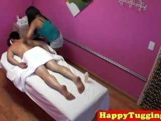 Deepthroated asian masseuse spoils dude