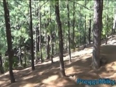 pregnant 9 months anal fucking in the forest