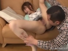 Japanese housewife gets her pussy licked and toyed to orgasm