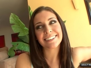 Gorgeous Gracie Glam sits on his face and pleasures his cock
