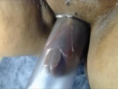 pumping her black pussy extreme play swollen lips