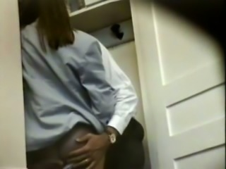 Hidden cam in my office catches my slutty colleague blowing dick