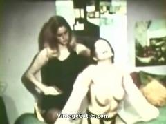 Girls Wrestle in a Female Fight (1960s Vintage)
