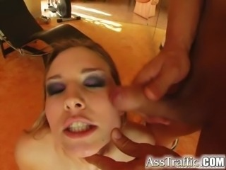 Ass Traffic New blonde on duty for hard ass thrusts and
