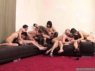 Jimmy Visconti gets into an orgy and has fun with guys and chicks