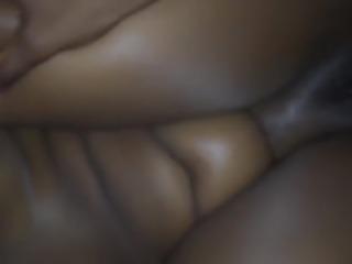 wet, hairy chubby ebony pussy