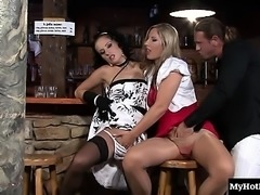 Blonde cutie Leony Aprill was out with some of her...