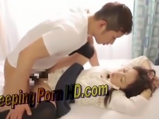 Cute Japanese Husband fucked his young wife