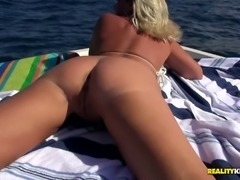 Slutty MILF sure knows how to have fun on a boat cruise