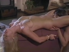 Two stunning retro lesbians are happy to do some cock sucking