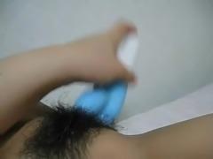 jap hairy pussy masturbation