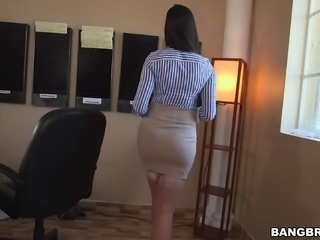 After a good, hard fuck Mercedes Carrera sucks the cum from his cock
