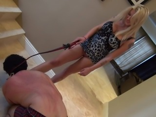 Whipped by hot blonde mistress