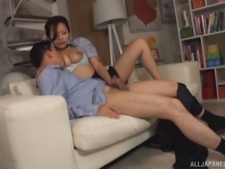 Adorable Chinese model pleasing so well with her hands handjob
