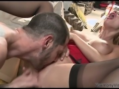 Explicit anal penetration fuck scene featuring spoiled blonde hooker