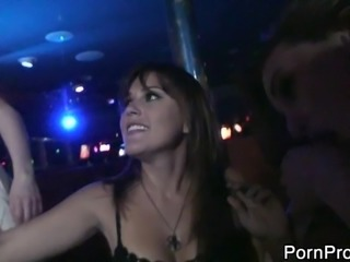 Horny senoritas got drunk and decided to have a nightclub orgy