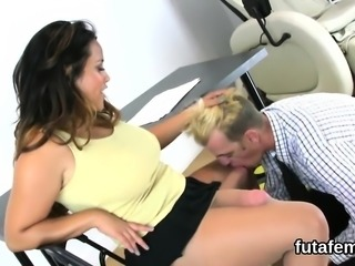Girls poke bfs anal with enormous strapon dildos and blast l