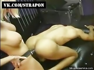 Interrasial femdom strap-on domination