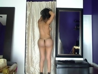 Skype girl Imane Moroccan wonderful striptease