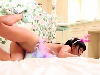 Asian Legend Marica Hase plays with an enormous sexy toy