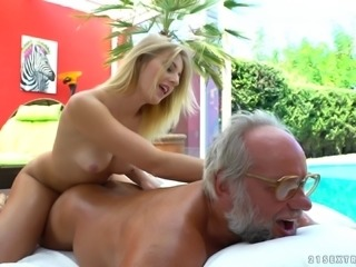 Nothing would please her more than having that geezer's dick in pussy!