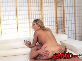 Super hot Kleio Valentien enjoys the after by stripping her bikini off and...
