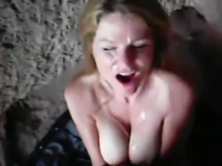 kinkyandlonelycom Milf facial at the beach